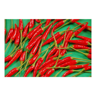 Red chili peppers print poster