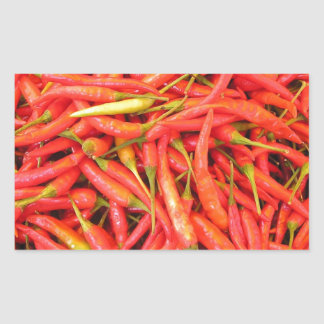 Red Chili Peppers Rectangular Stickers