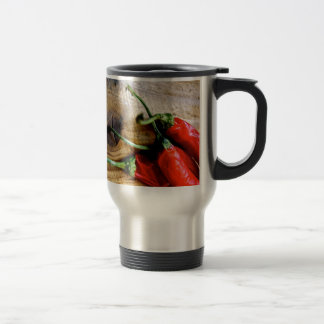 Red Chilies 15 Oz Stainless Steel Travel Mug