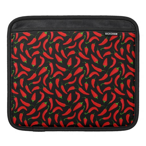 Red Chilli Pepper Print iPad Sleeve