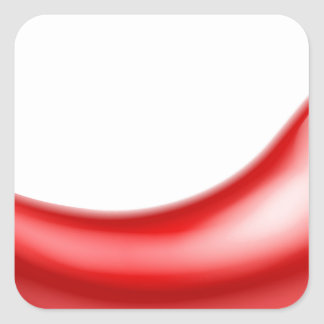 Red Chilli Pepper Square Sticker