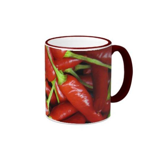 Red Chilli Peppers Gift Range Ringer Coffee Mug