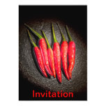 Red Chilli Peppers Invitation Announcements