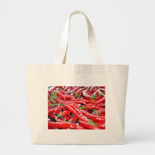 Red Chilli Peppers Jumbo Tote Bag