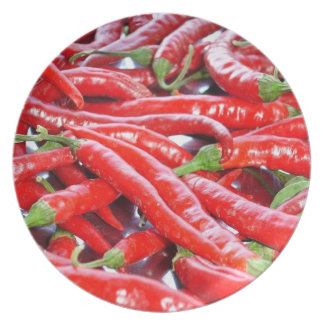 Red Chilli Peppers Melamine Plate