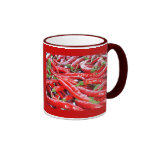 Red Chilli Peppers Ringer Coffee Mug