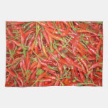 red chillies hand towel