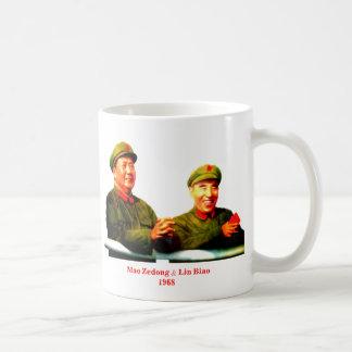 Red China Chairman Mao and Lin Biao Coffee Mug