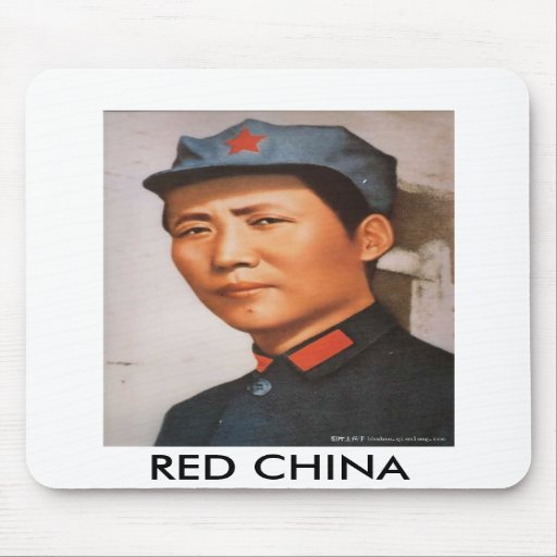 RED CHINA MOUSE PADS