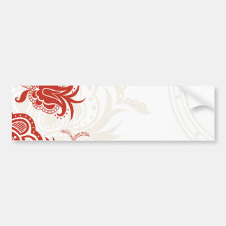 Red Chinese Background Bumper Stickers