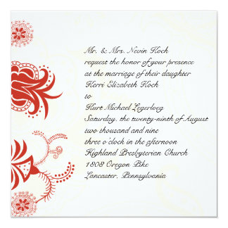 Red Chinese Background Invitation