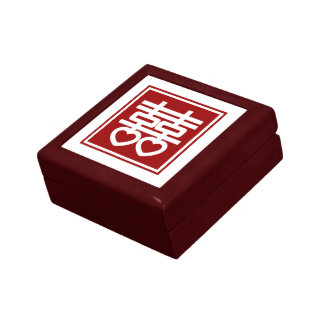 Red Chinese Double Happiness Symbol Gift Box