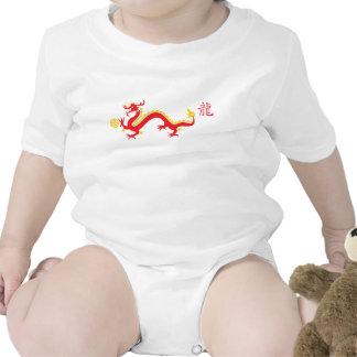Red Chinese Dragon and Shau T-shirts