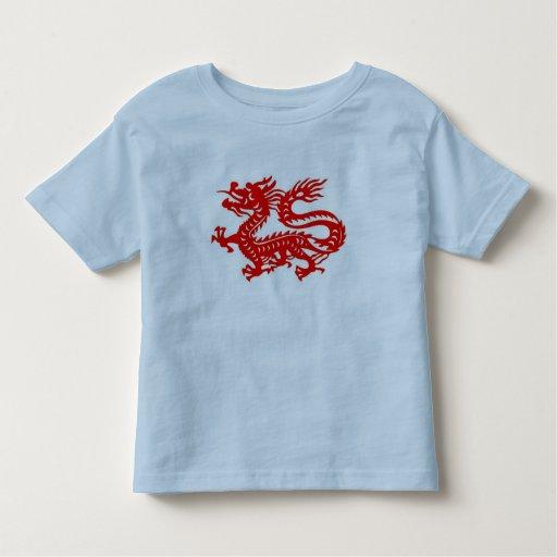 Red Chinese Dragon Kids Tee