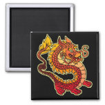 Red Chinese Dragon Magnet Fridge Magnet