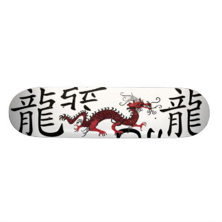 Red Chinese Dragon Skateboard Deck