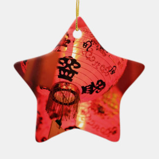 Red Chinese lanterns Christmas Tree Ornaments
