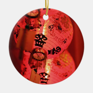 Red Chinese lanterns Christmas Ornament