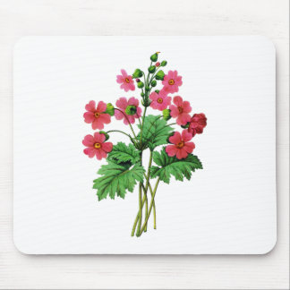 Red Chinese Primrose by Pierre Joseph Redoute Mouse Pad