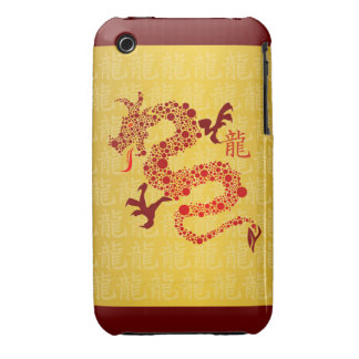 Red Chinese Year of the Dragon iPhone 3 Case