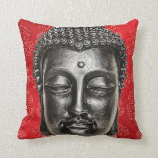 Red Chinese Zen Buddha Pillow