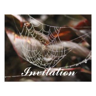 Red chispeante de la araña invitaciones personalizada