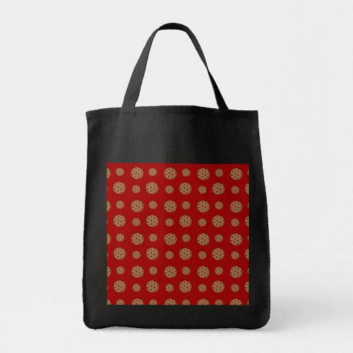 Red chocolate chip cookies pattern bags