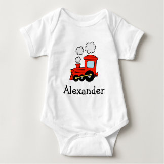 Red choo choo train toy jumpsuit for boys baby bodysuit