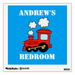 Red choo choo train wall decal for boys bedroom