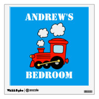 Red choo choo train wall decal for boys bedroom