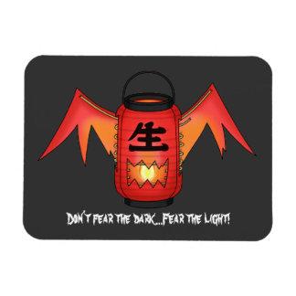 Red Chouchin-obake (Paper Lantern Ghost) Magnet