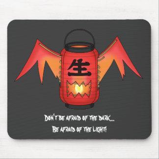 Red Chouchin-obake (Paper Lantern Ghost) Mousepads