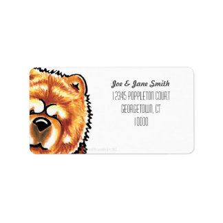 Red Chow Chow Custom Color Label
