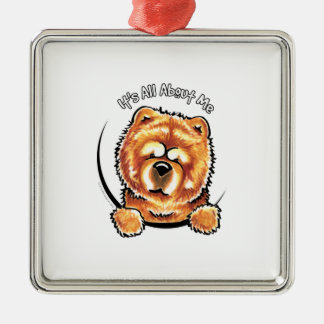 Red Chow Chow IAAM Metal Ornament