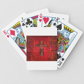 Red Christian Cross Contemporary Religious Art Poker Cards