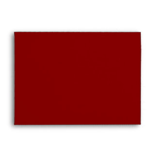 Red Christmas  A7 Envelope