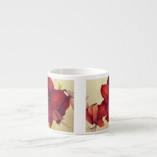 Red Christmas Amaryllis Espresso Mug