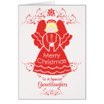 Red Christmas Angel for Granddaughter Cards
