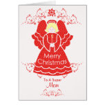 Red Christmas Angel for Mom Greeting Cards