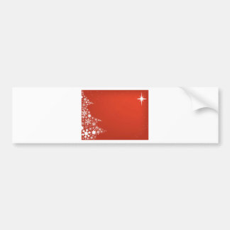 Red Christmas Background Bumper Sticker