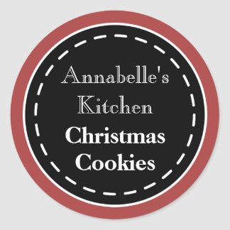 Red Christmas Baking Cookies Kitchen Stickers