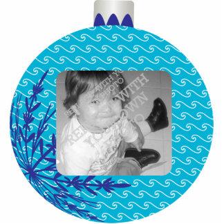 Red Christmas Ball Frame Cutout