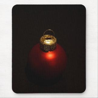 Red Christmas Ball Mouse Pad