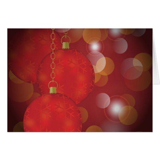 Red Christmas Balls Card
