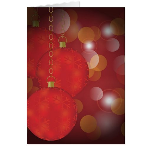 Red Christmas Balls Cards