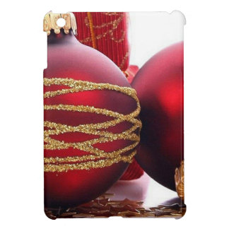 Red Christmas Balls Cover For The iPad Mini