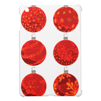 Red Christmas Balls on apparel and gifts iPad Mini Cases