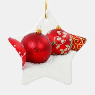 Red Christmas Balls Christmas Tree Ornaments