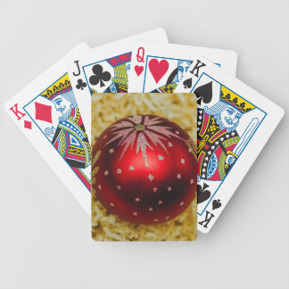 Red Christmas bauble Bicycle Playing Cards