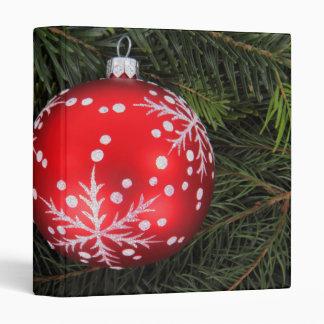 Red Christmas bauble Vinyl Binder